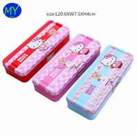 High quality 2 layer tin pencil case from china supplier