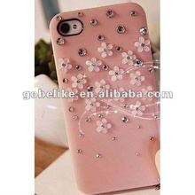 Flower Diamond For iPhone 4 4S Full Body Phone Fashion Crystal Case