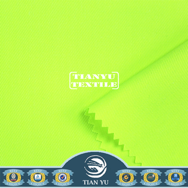 Drill Poly / Cotton Green Fluorescent Dyed Textiles