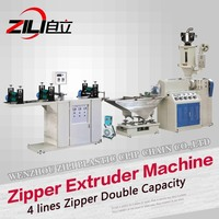 Plastic Zipper Extruder Machine For All Type Of High Quality Reclosable Zipper