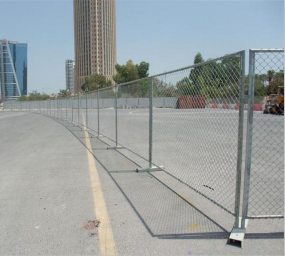 Chain link fence for parking barrier