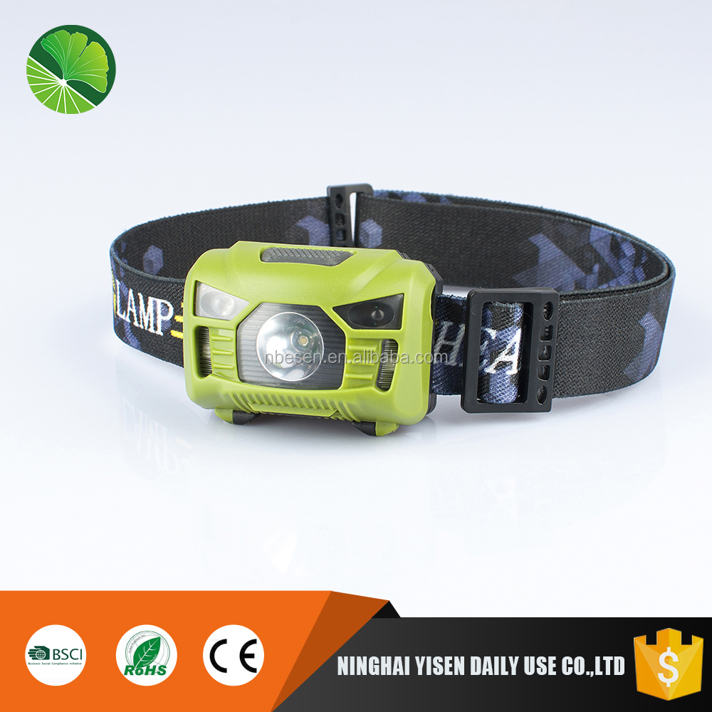 3W high bright rechargeable head lamp IP65 waterproof