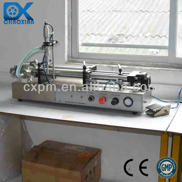 Guangzhou semi-automatic lube oil filling machine for small project