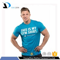 Hot sale cheap price slim fit o neck cotton soft bodybuilding t shirt printing