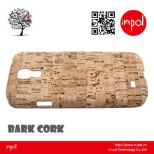 2013 Newest rubber coating slim cork moble phone plastic cover for samsung galaxy S4