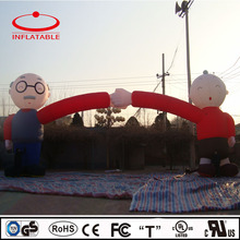 giant commercial inflatable old man arch gate