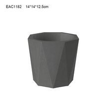 marble finish garden flower pot and planter set