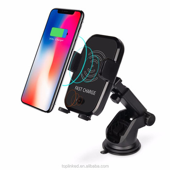 Tuopuke Hot selling automatic induction wireless car charger phone holder Cradle Shenzhen factory