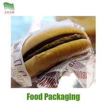 Light Weight Printed Greaseproof PE Coated Hamburger Paper with Cheap Price