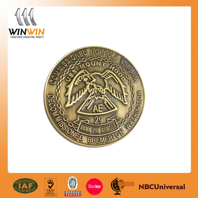 Competitive price souvenir old gold metal coin