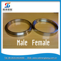 DN125 Forged Male And Female Flanges Concrete Pump Pipe Flanges