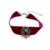 Unique Red Ribbon Pure Green Glass Pink Pearl Choker Necklace Wedding Gifts for Women
