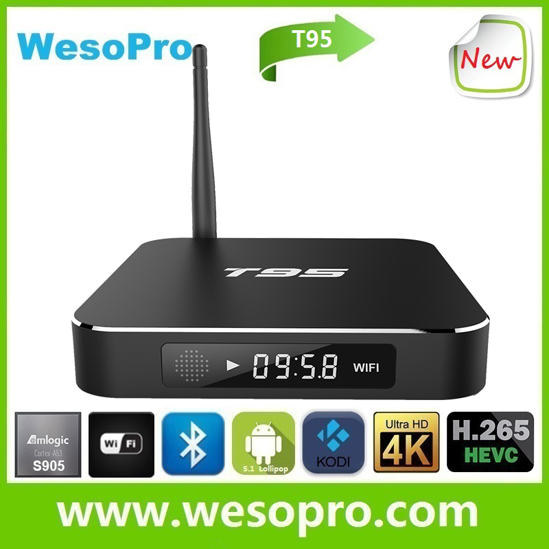Wesopro 0225 4k ultra output android tv box free hd indian porn T95 ROM 8GB Antenna for WiFi 1080P multi-language wireless