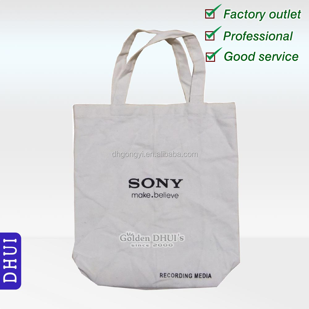 custom logo printing sony cotton fabric advertisement shopping bag,good quality durable classical canvas promotional gift bag