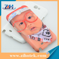 3D sublimation hard plastic phone case printing for Samsung Note 2