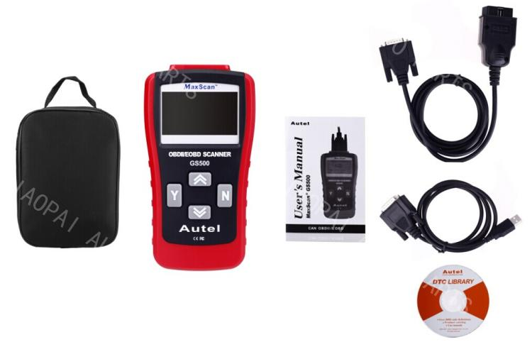 GS500 OBD2 Scanner car engine computer fault detector diagnostic tool vehicle EOBD scanner code reader