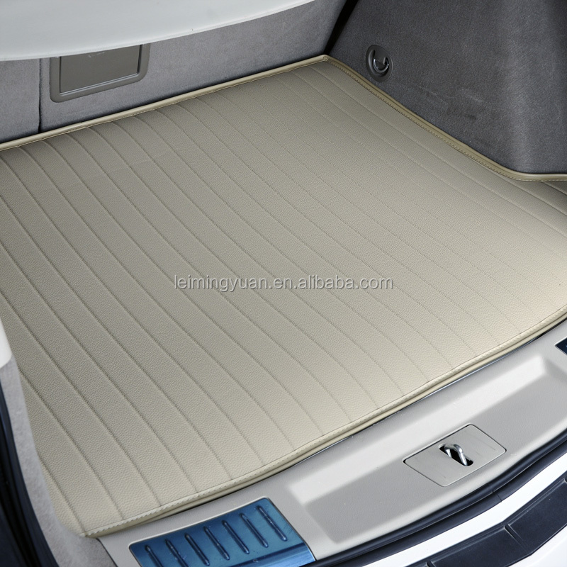high quality non slip cleaning soft leather boot mats car trunk mats