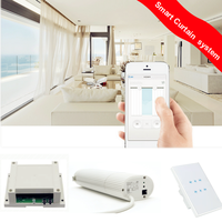 Motorised Curtain Track System, remote control curtain,home automation App control