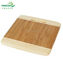 Hot square shaped bamboo wood cheese cutting board