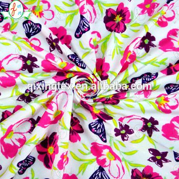 2016 most popular digital printed cotton lingerie/bra/swimwear fabric