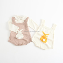 Infant & toddler winter sweat romper cute bunny baby bodsuit