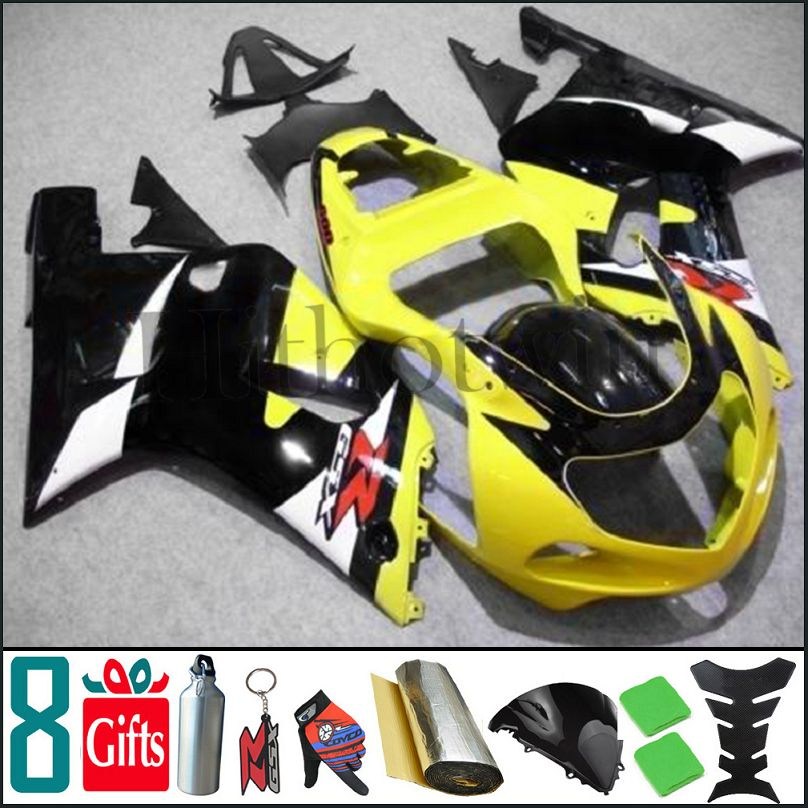 2000 2001 2002 GSXR1000 K1 yellow black Body Kit Fairing For Suzuki GSX-R1000 00 01 02 GSX R1000 K1 01 02 2000