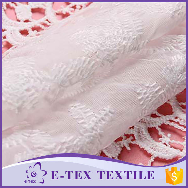 Garments fabric supplier 2016 new style Fashion Embroidery lace clothing fabric