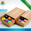Drawer type custom logo brown kraft cupcake box