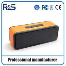 Surround professional speaker! leather design outdoor portable bluetooth aux professional speaker support TF card