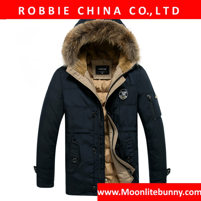 Men Down Jacket Brand Clothing High Quality Men Casual Warm Hooded Fur Collar Slim Down Coats Winter Jackets Snow XXXL 831
