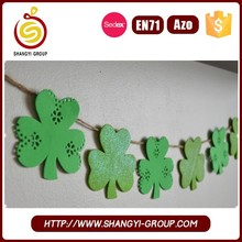 Home decoration lucky clover felt garland decoration for st. patrick's day
