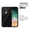 2017 Fashion Design For iPhone X Armor Glass Case tempered glass phone case cover (Black)