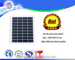 chinese solar cells 156*156 polycrystalline 4w 9v chinese solar panels for sale