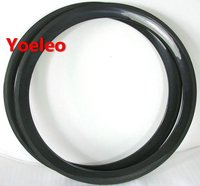 Solid Bicycle Rim Super Light 700C 50mm Solid Carbon Rims Tubular For Road Bicycle Weave 3K 12K UD