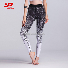 OEM custom print women gym fitness stretch elastic clothing fitness wear leggings yoga