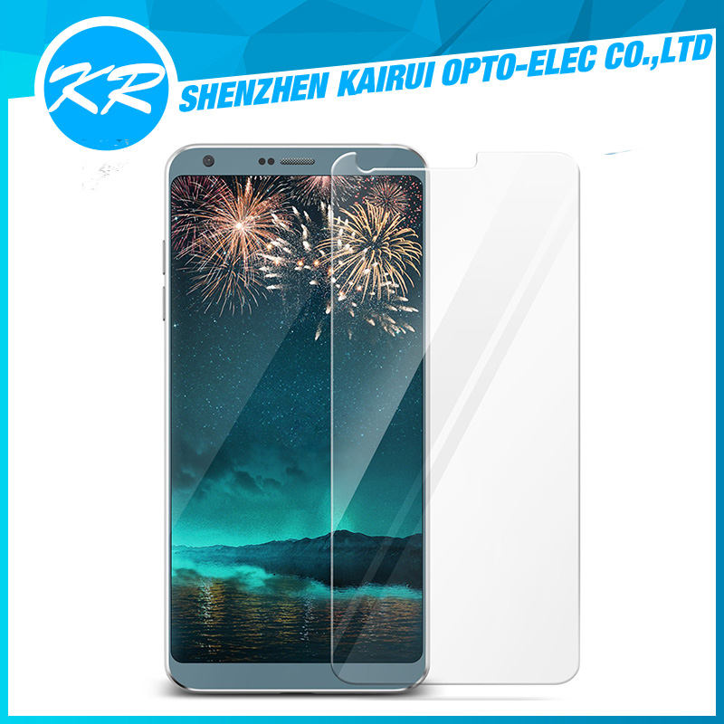 2017 cheap premium clear tempered glass screen protector for LG G6