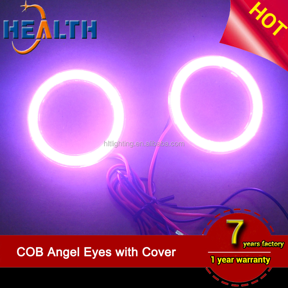 2 x 4.3 inch LED SMD Head Running Day Light 110mm COB LED Angel Eyes Halo Ring