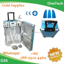 Travelling suitcase type portable dental therapeutic machine / unit used in fields like hospital, dental clinic, outdoor service