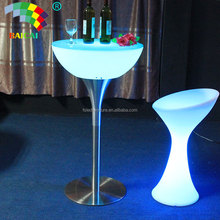 Night Club Waterproof Sample Selling Home Garden Party High Top Led Cocktail Table