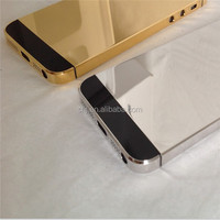 For iphone 5 5s 6 platinum mirror diamond housing platinum midframe for apple iphone 5 5s 6