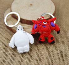 Hot sale cartoon design 3D silicone ruber key ring / soft ruber cartoon keychain for key taking