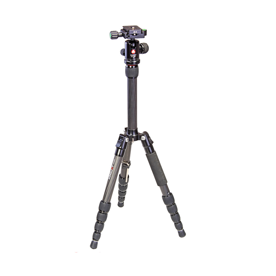 KINGJOY digital camera use fiber carbon camera tripod with damping ball head