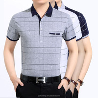 Middle aged men's cotton polo shirt fitness men's big size clothing 2017,gym apparel for men