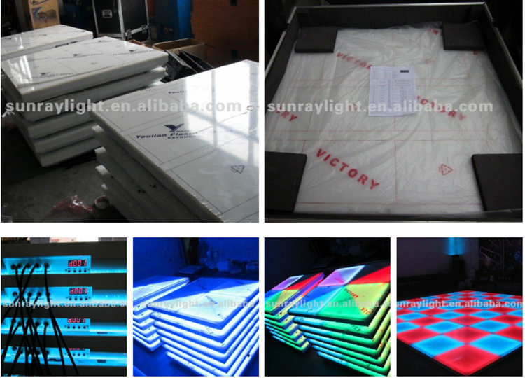 Wholesale price 4 digital led panel portable led dance floor light for sale