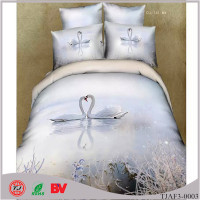 China Supplier 3D Printed 100% Cotton Bedsheet Bridal Bedding Set
