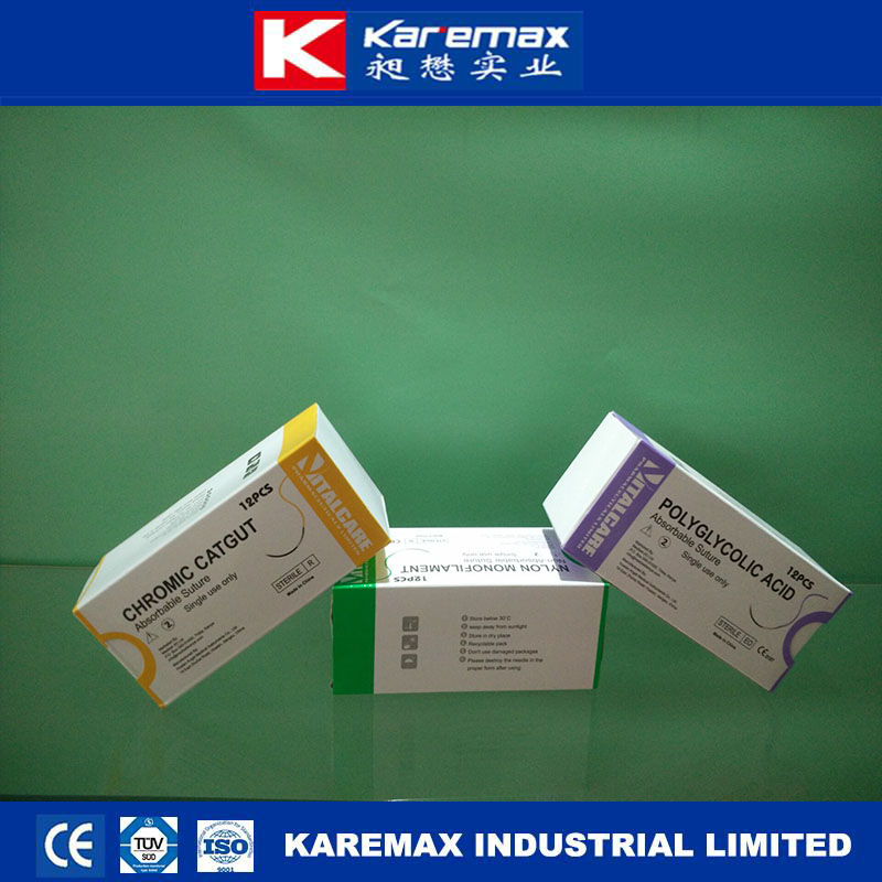 Most Selling Medical Skin Suture raw material with Double Needle