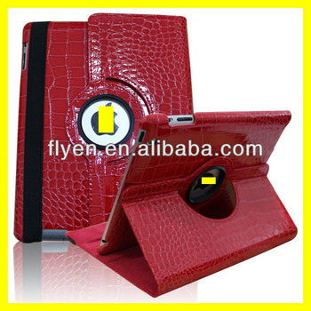2014 wholesale and popular leather holster for ipad2/3/4 with stand function,360 rotating case