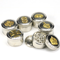 JL-401J Zinc 55MM Wholesaler 4 Piece With Crank Vintage Herb Grinder