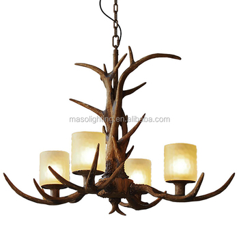House decorations wicker lighting Antler chandelier venue light Industrial loft farmhouse pendant light