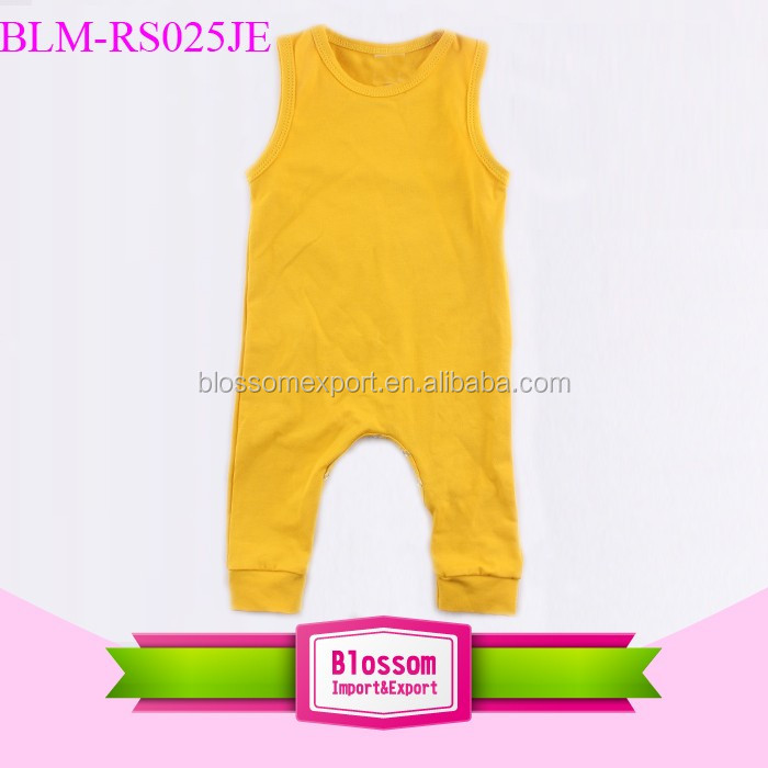 Wholesale Blank Baby Clothes 0-24month Baby Boy Clothes Romper One-piece Jumpsuits Sleeveless Overall Shortalls Baby Boy